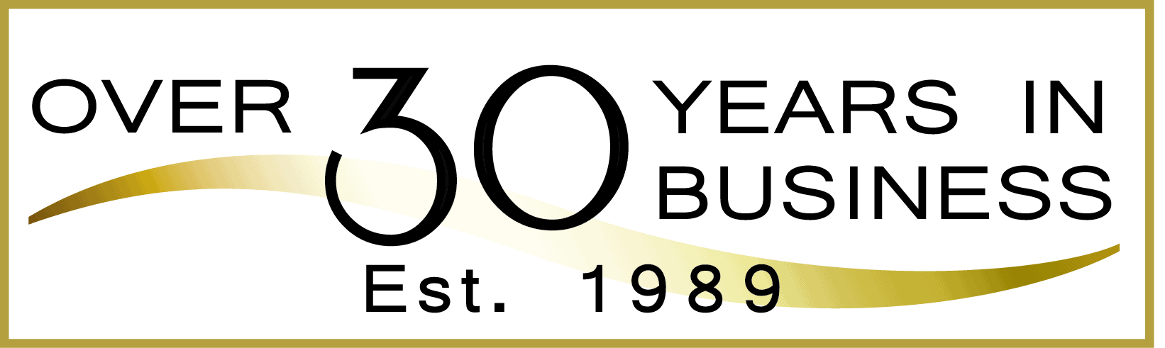 Over 30 years in business (Established 1989)